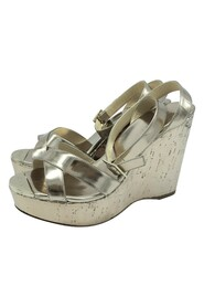 platform wedges with crossover strap