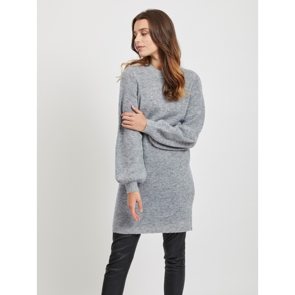 OBJECT Light Grey Melange KNIT DRESS OBJECT