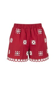 Shorts with sangallo embroidery
