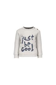 FLO sweater Just be Cool F707-8336 grijs melee