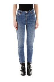 High rise sankle crop jeans