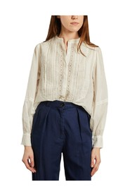 Celia shirt with embroidered cotton veil