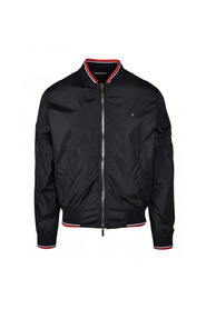 Jacket with ribbed red striped