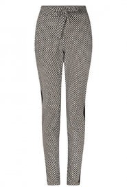 Isabel printed travel pants with piping