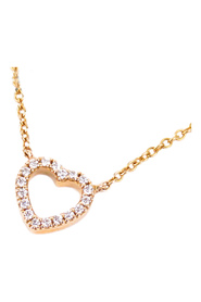 Metro Heart Diamond Necklace Metal