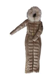 Ciara jumpsuit med mushroom ægte pels