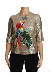 Sequined Parrot Crystal Blouse