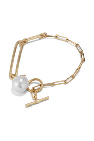 Salon Pearl armband,-zilver