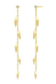 Tree of Life Chain Earrings