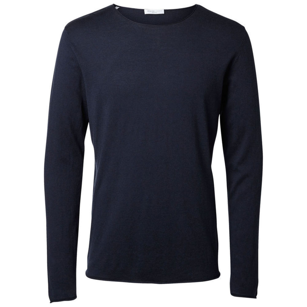 Selected dome crew neck