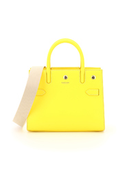 baby title leather tote bag