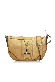 Metallic Leather Horsebit Crossbody