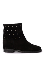Suede ankle boots with studs