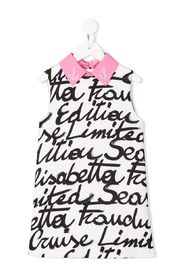 Macro written print dress