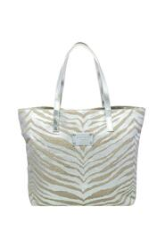 Canvas And Patent Leather Tote