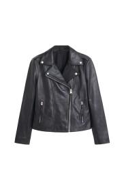Läder biker jacket