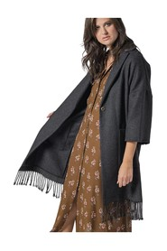 OVER COAT WITH FRINGES