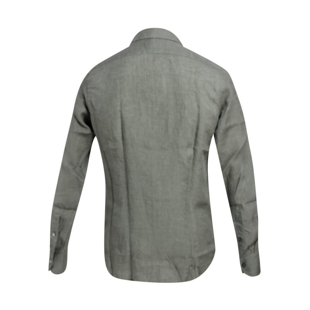 Green BASIC LINEN SHIRT | Bagutta | Koszule - Najnowsza zniżka rbKyt