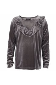 Petit by Sofie Schnoor - Bluse, Velour - Grey