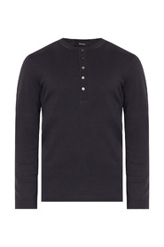 Long-sleeved henley shirt