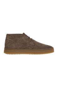High suede sneaker with caramel sole