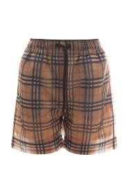 tawney check mesh shorts