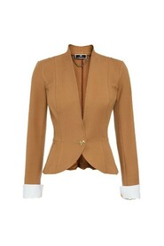 Slim fitting jacket with single button