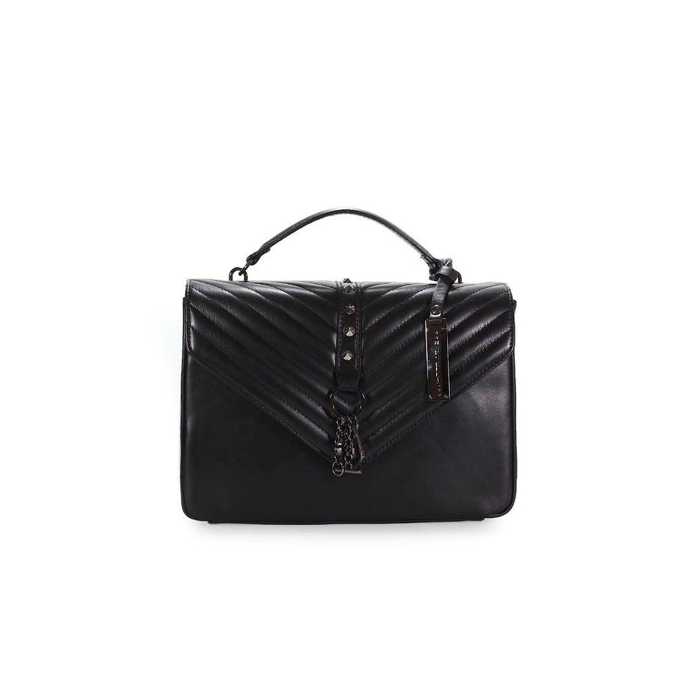 MARC ELLIS KASSIDY BLACK LEATHER CROSS BODY BAG