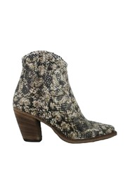 TEX ANKLE BOOT IN PYTHON PRINT HEEL 9CM