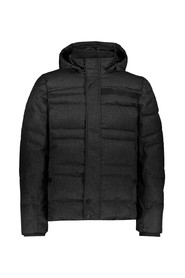 HOODED MELANGE JACKET