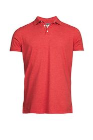 Back collar print polo