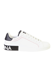Leather sneakers with logo detail