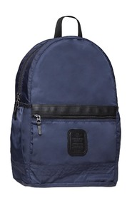 BO999C LIGHT BACKPACK WITH DOUBLE BLUE ZIP CLOSURE