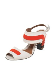 Pre-owned Heel Ankle Strap Sandals