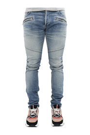 B Embossed Slim Jeans-Medium B