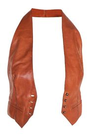 Brown Calfskin Leather Backless Vest