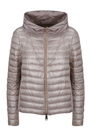 WIDE FOLDED COLLAR DOWN JACKET