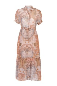 Long Dress Paisley Print