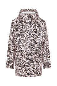Rain jacket leopard patterned