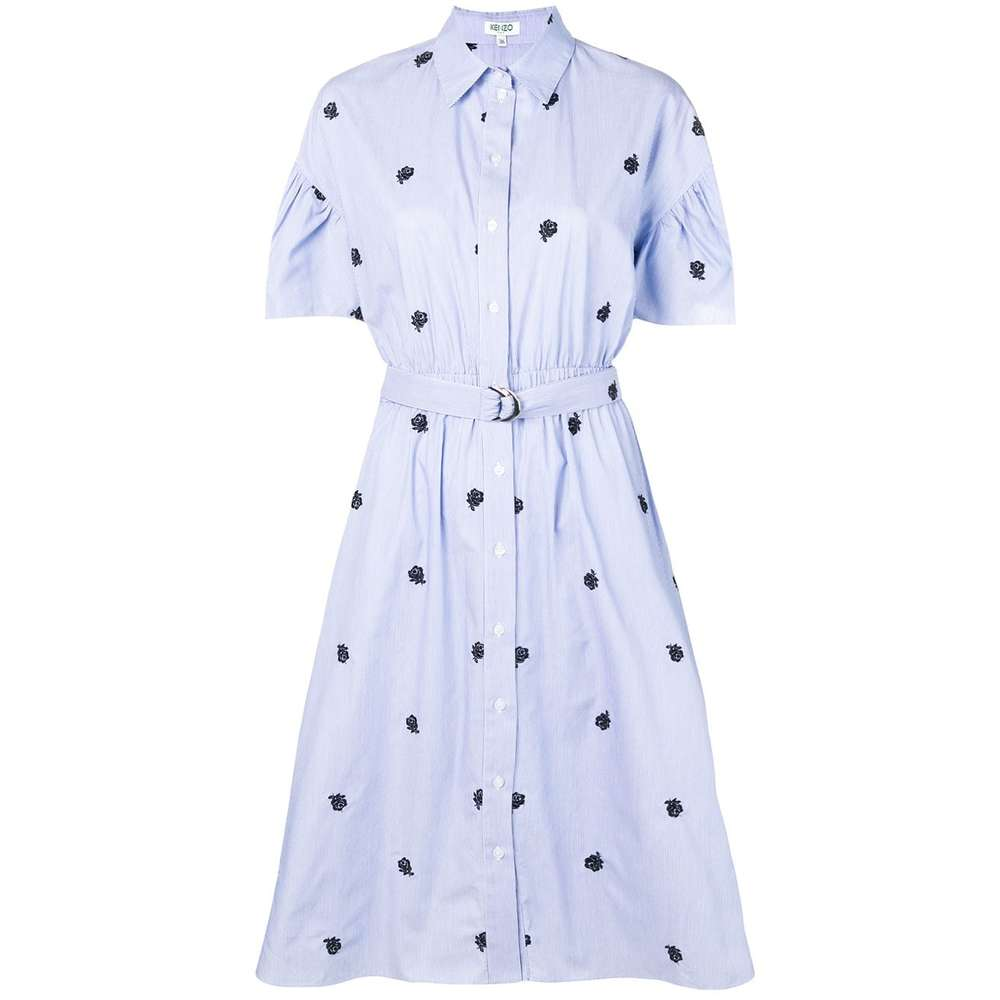 Shirting belted dress