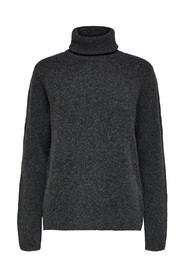 stacey ls knit rollneck
