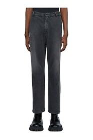 Slim-Fit Worn-Out Jeans