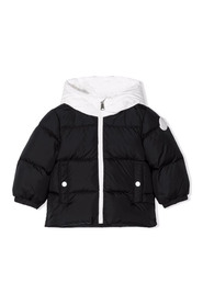 Two-Tone Hooded Padded Jacket