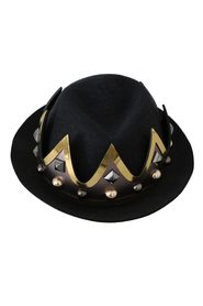 Crown Embellished Trilby Men Capello Hat