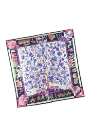 Carre 90 Fantaisies Indiennes Dazzling Indian Silk Scarf