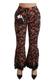 Flared High Waist Trousers Pants