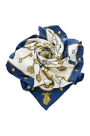 pre-owned Les Cles Scarf Fabric Silk