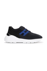 Hogan Active One sneaker in blue leather and nubuck