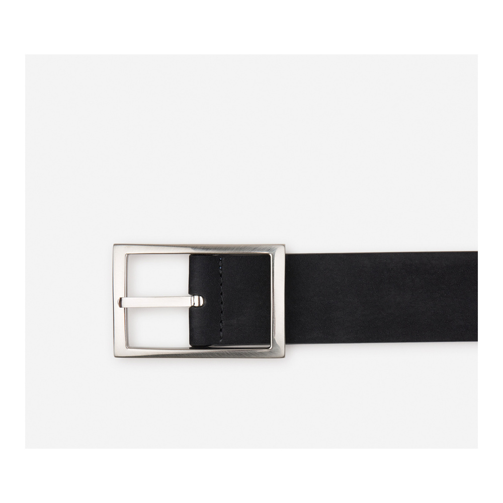 BLACK Belt with a squared buckle | Santa Eulalia | Riemen | Heren accessoires