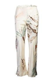 Printed Silk Pants -Pre Owned Condition Very Good